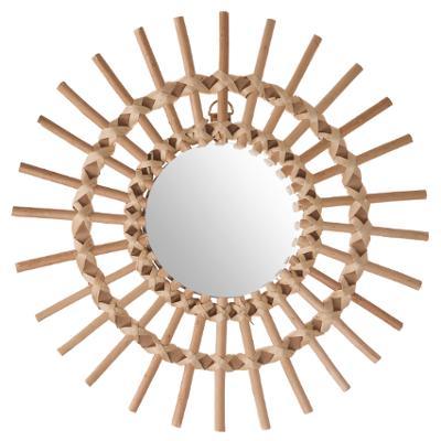 Miroir rotin 30cm